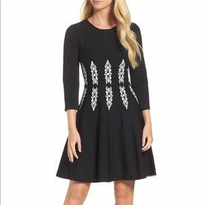 Eliza J - Three-Quarter Sleeve Fit & Flare Dress